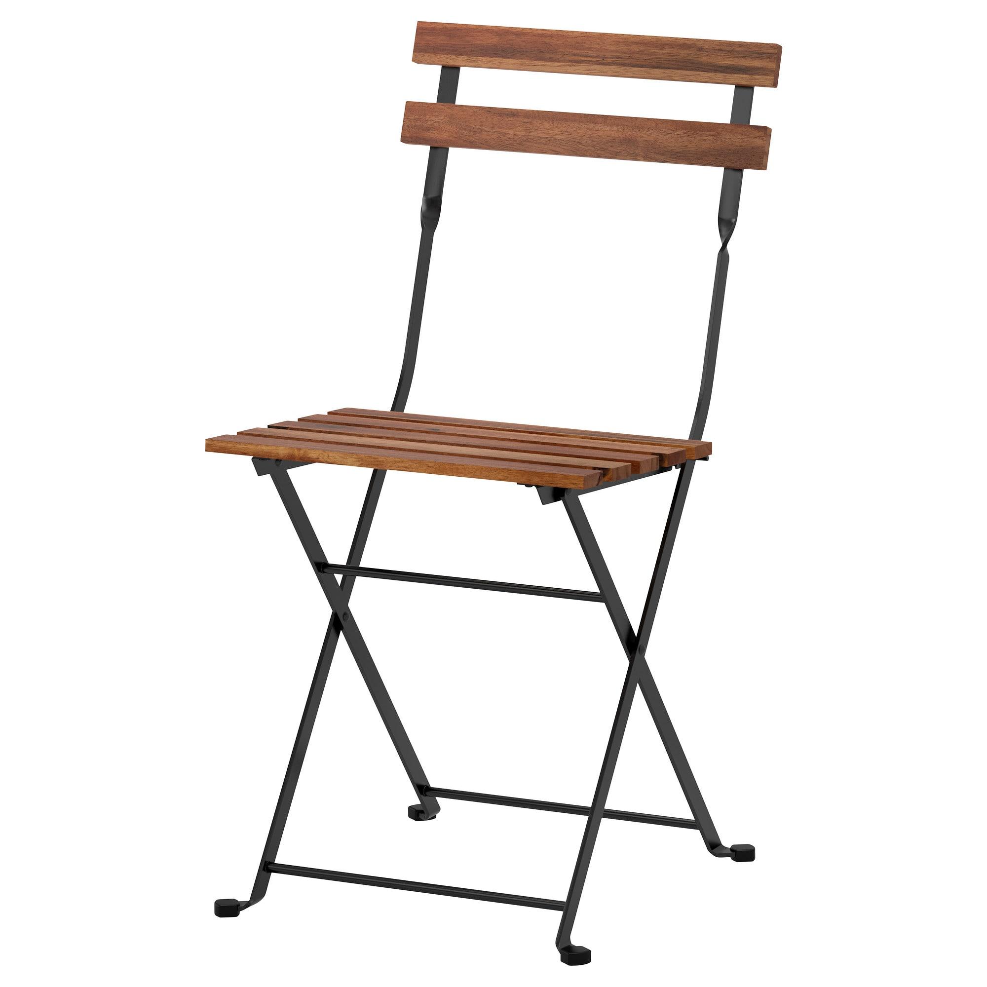 Ikea - Tärnö Chair, Outdoor Foldable Acacia Black, Gray ... concernant Chaises De Jardin Ikea
