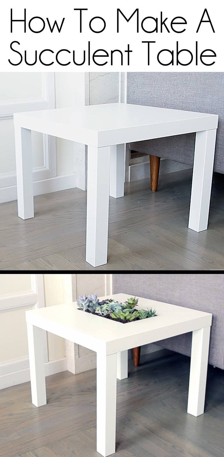 Ikea, Une Table Avec Des Plantes Diy | Table Ikea, Table ... destiné Table Basse De Jardin Ikea