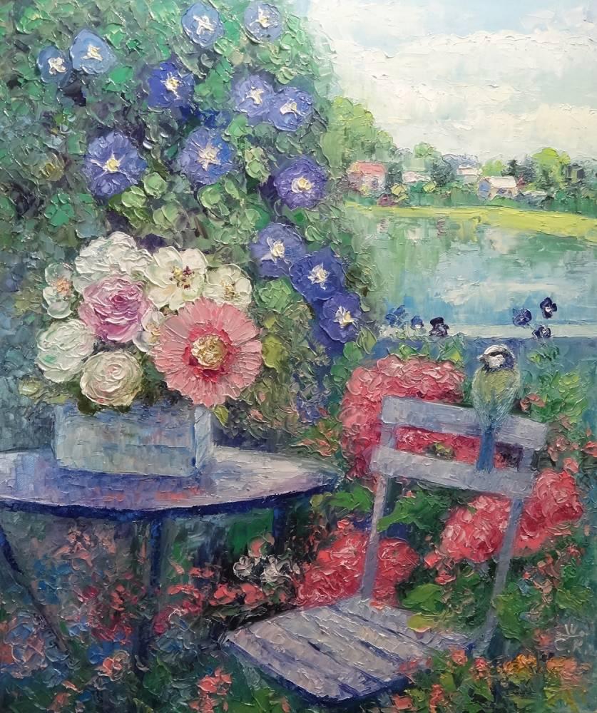 Image (Peinture) : Un Jardin Fleuri.. Auteur Svetlana ... pour Modèle De Jardin Fleuri