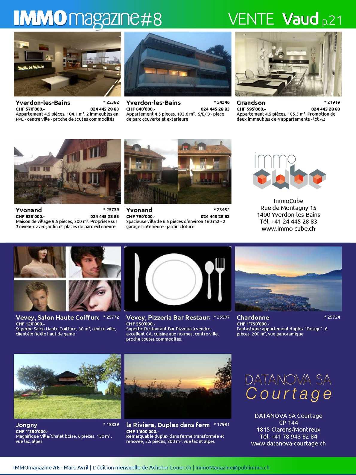 Immomagazine No.8 Par Acheter-Louer.ch - Calameo Downloader avec Restaurant Avec Jardin 78