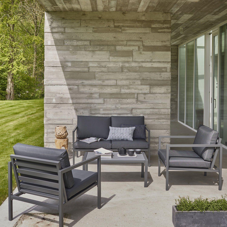 Impressionnant Salon Bas De Jardin Aluminium | Décoration ... intérieur Salon De Jardin Bas Aluminium