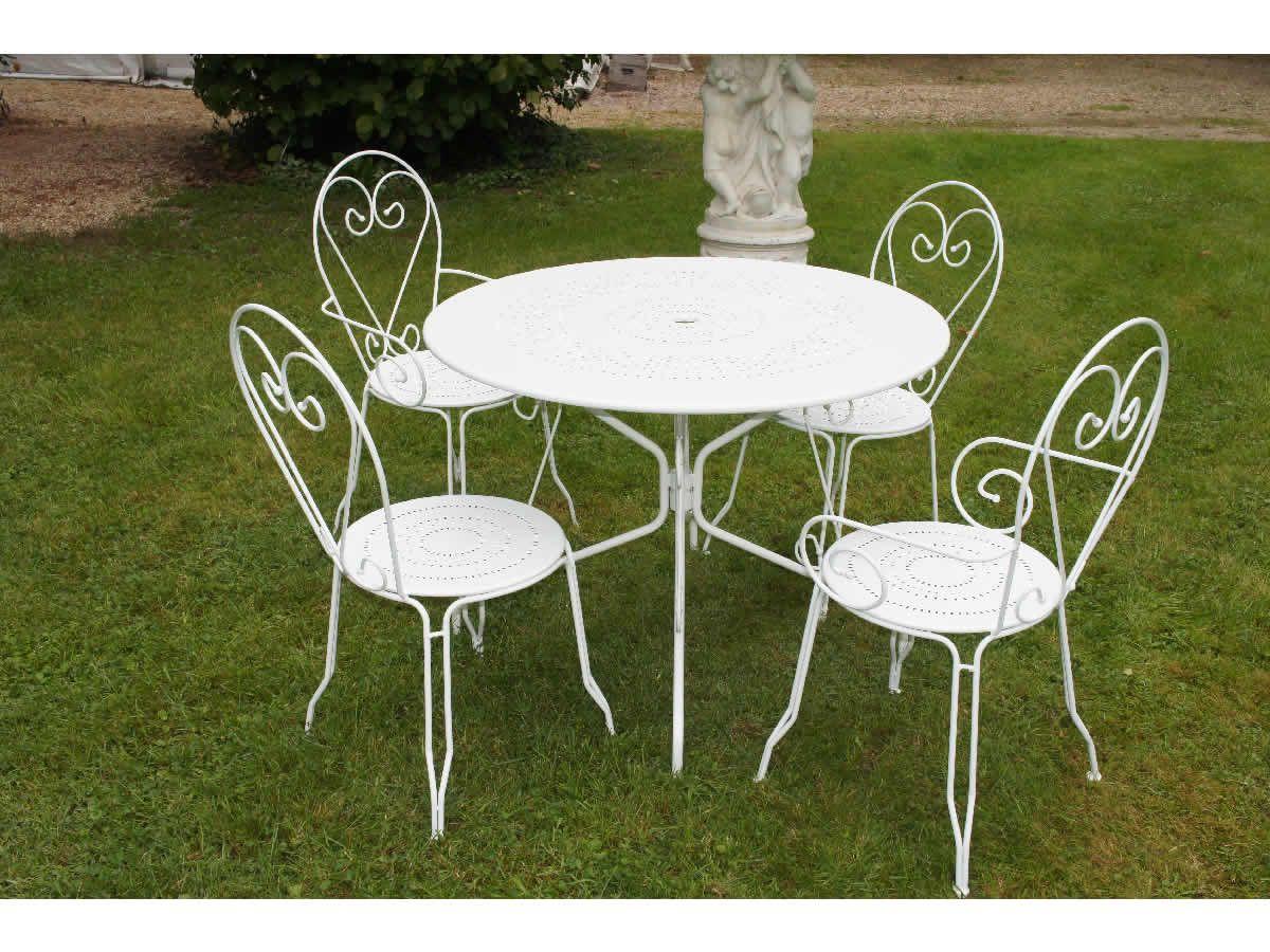 Impressionnant Salon De Jardin En Fer Pas Cher | Table Et ... pour Salon Jardin Enfant Pas Cher