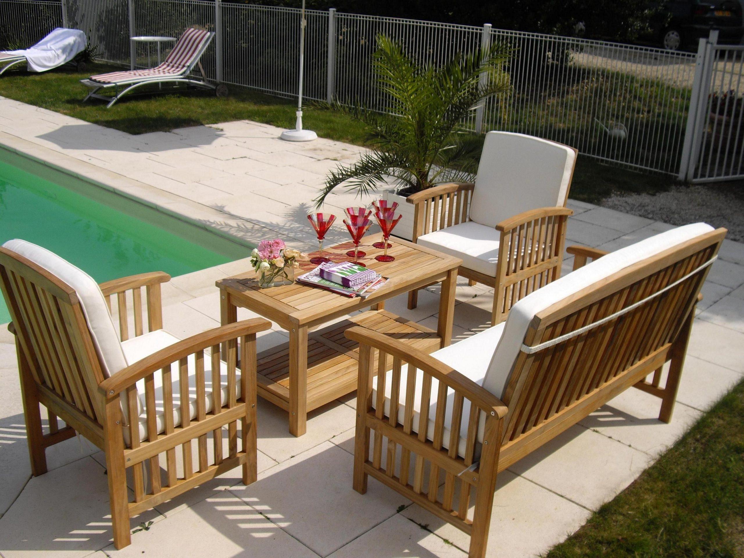 Impressionnant Salon De Jardin En Teck En Promotion | Salon ... pour Salon De Jardin En Promotion