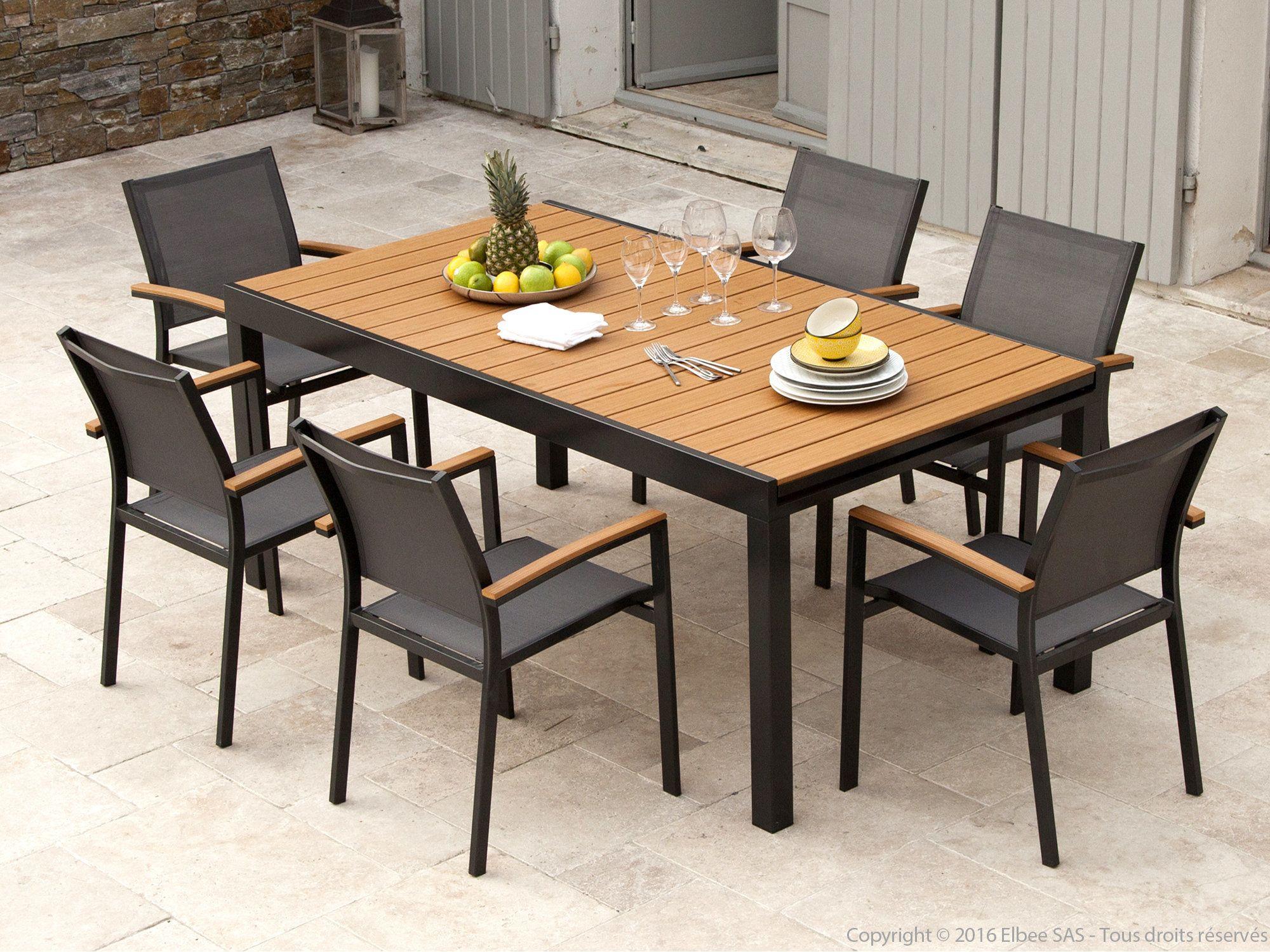 Impressionnant Table De Salon De Jardin En Bois | Mesas ... serapportantà Table De Jardin En Alu