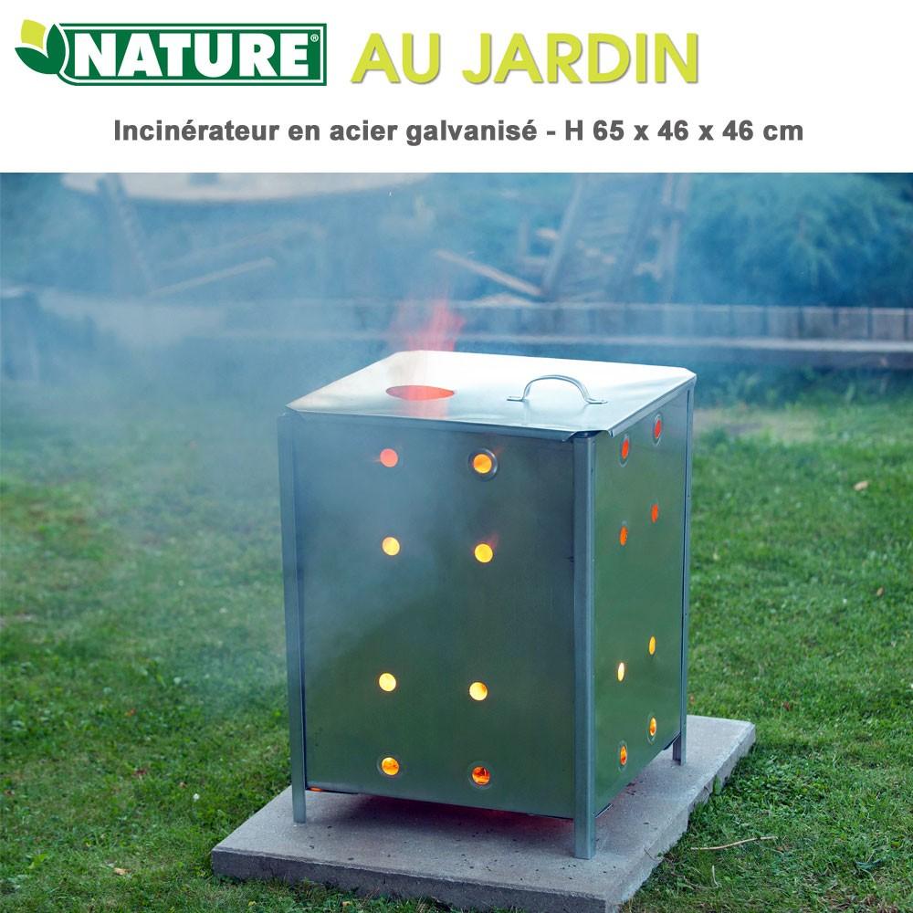 Incinérateur Déchet De Jardin - H65X46X46 Cm concernant Incinerateur De Jardin