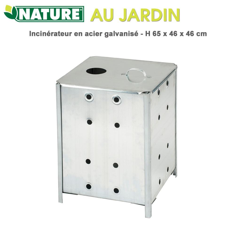 Incinérateur Déchet De Jardin - H65X46X46 Cm serapportantà Incinérateur De Jardin