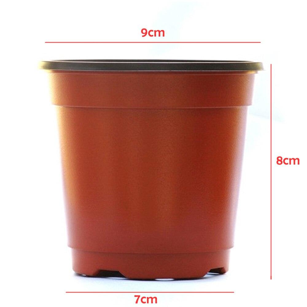 Indirim Behogar 100 Adet Çift Renkli Plastik Bahçe Saksı ... à Pot Pvc Jardin