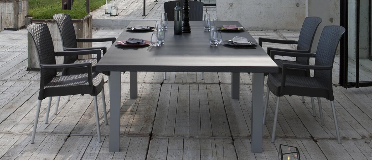 Ineo Garden Table | Grosfillex tout Table De Jardin Xxl