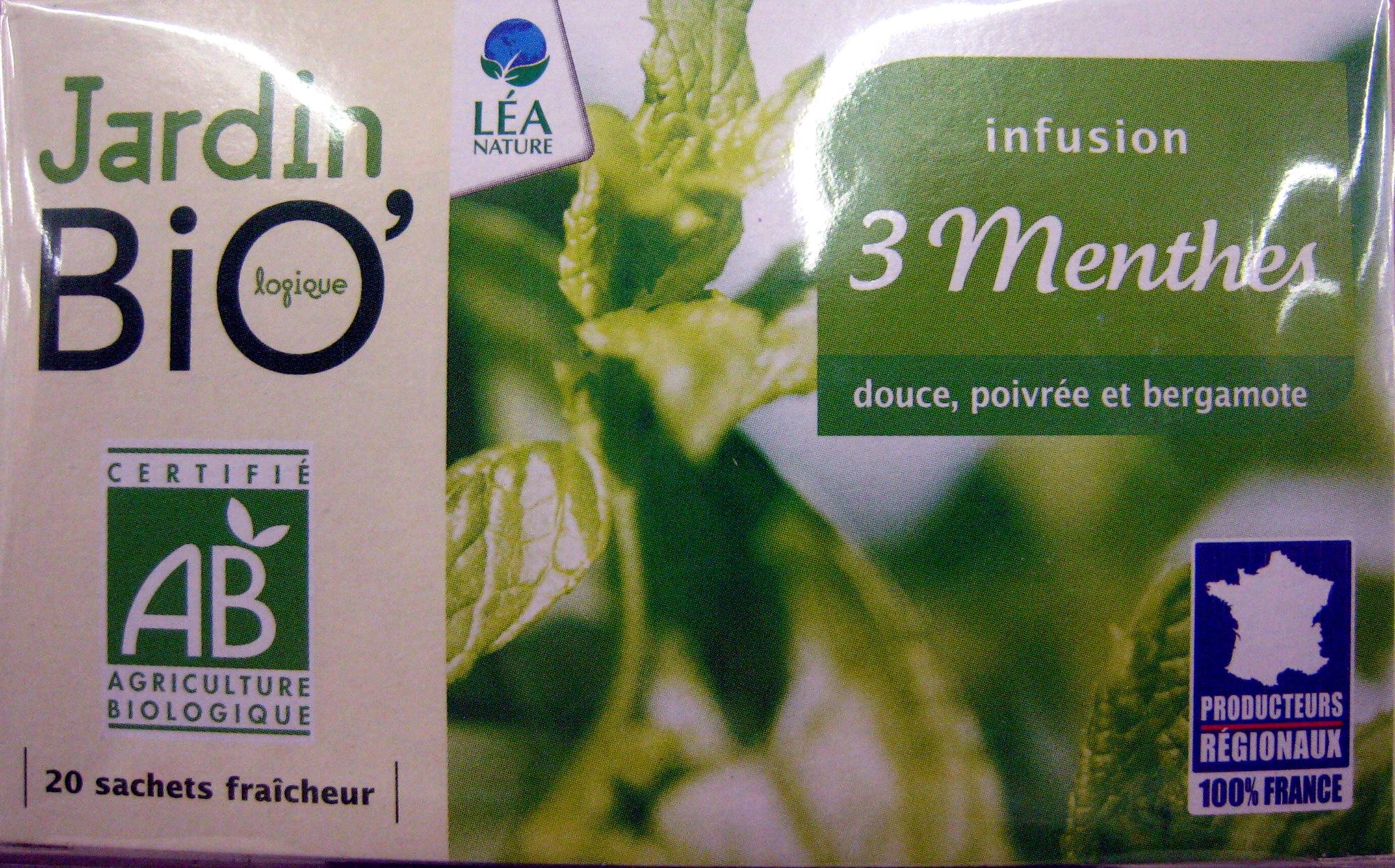 Infusion 3 Menthes Jardin Bio - 30 G (20 Sachets De 1,5 G) dedans Jardin Bio Infusion