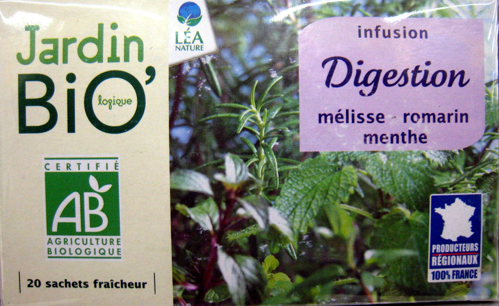 Infusion Digestion - Jardin Bio - 30 G (20 Sachets De 1,5 G) tout Jardin Bio Infusion