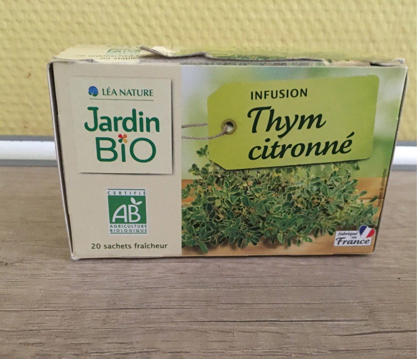 Infusion Thym Citronné - Jardin Bio' - 20 Sachets De 1,5G à Jardin Bio Infusion