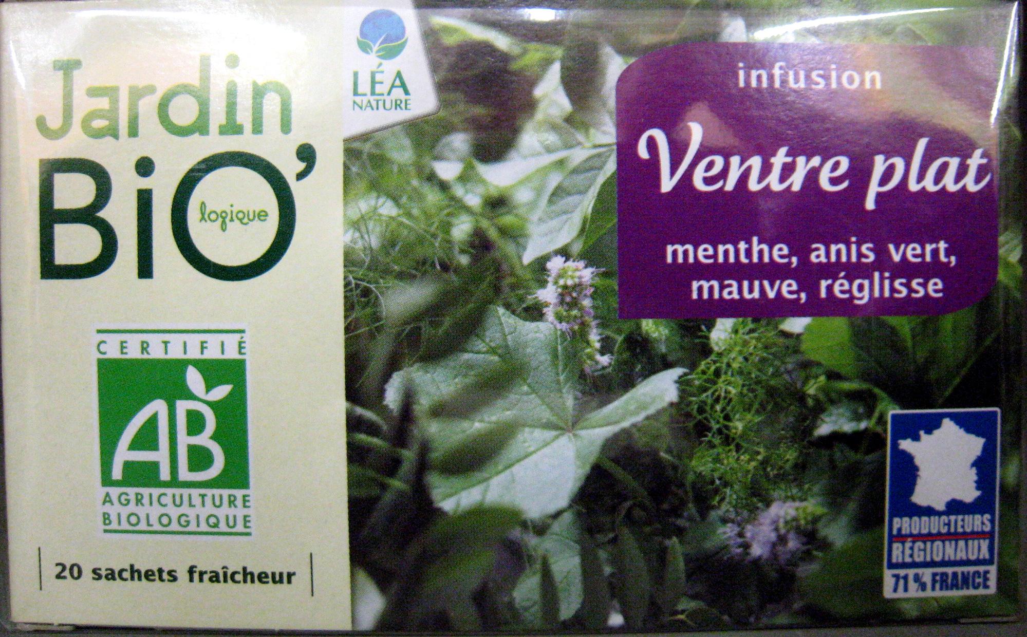 Infusion Ventre Plat Jardin Bio - 30 G (20 Sachets De 1,5 G) encequiconcerne Jardin Bio Infusion