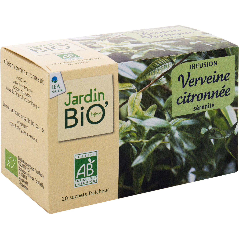 Infusion Verveine Citronnée Jardin Bio'logique Jardin Bio ... avec Tonnelle De Jardin Carrefour