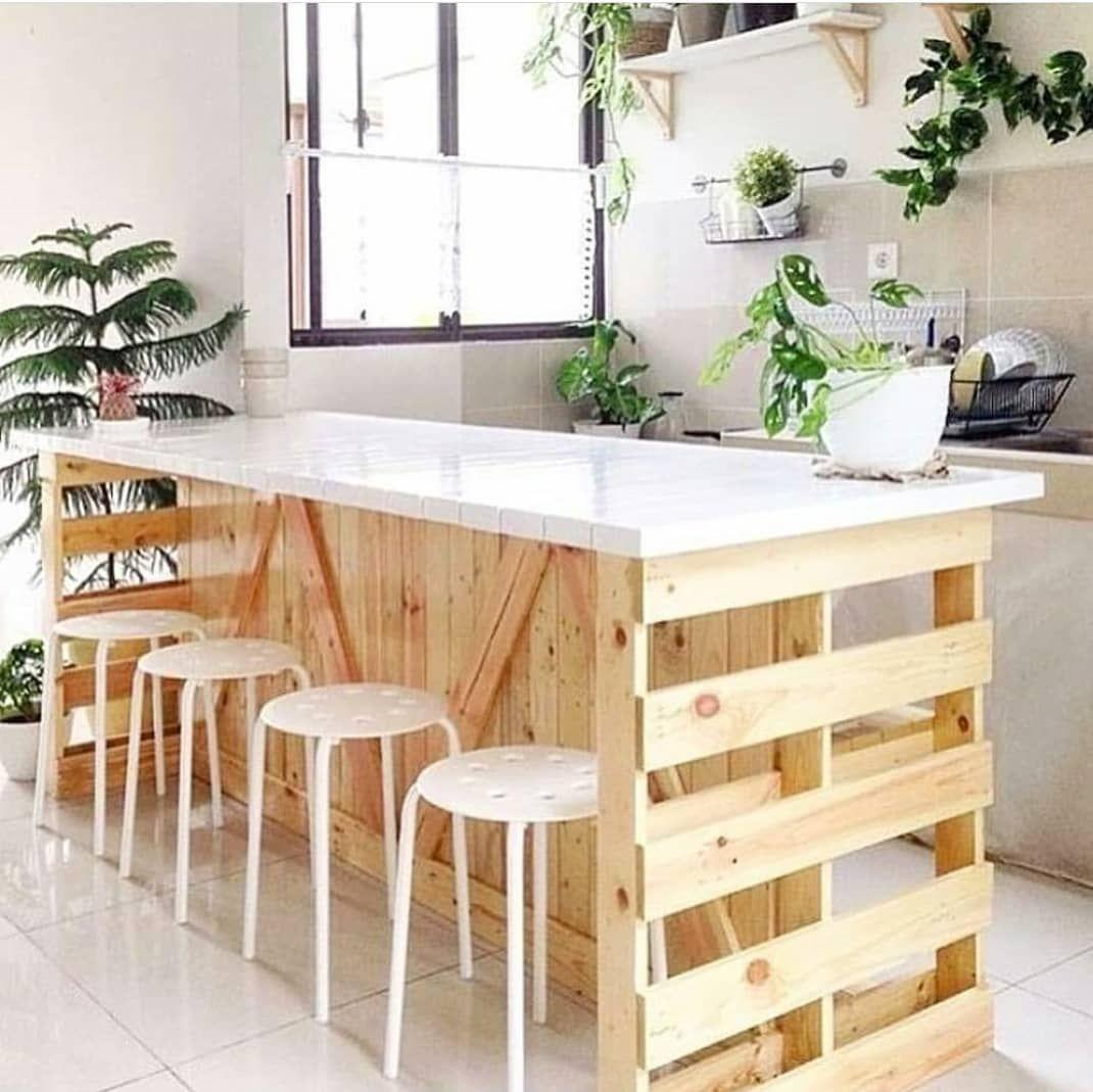 Inspiração Para Uma Ilha De Pallets Na Cozinha Fonte ... tout Vima Salon De Jardin