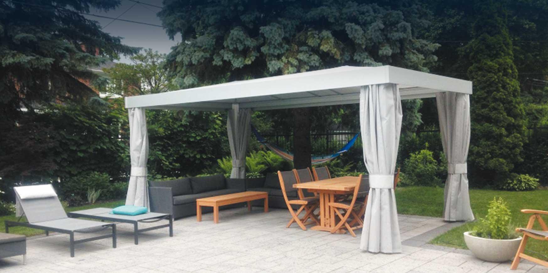 Installation Jm: Spécialiste Auvent Et Abri De Jardin intérieur Abri De Jardin Toile