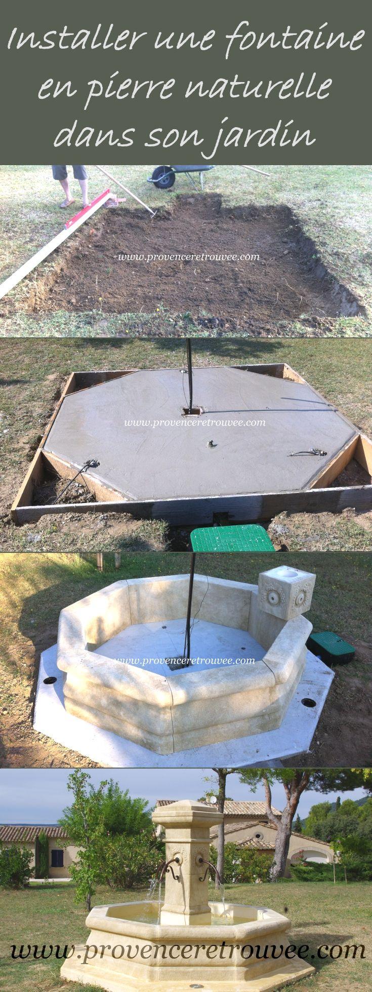 Installer Soi-Même Une Véritable Fontaine En Pierre Dans Son ... intérieur Installation Fontaine De Jardin