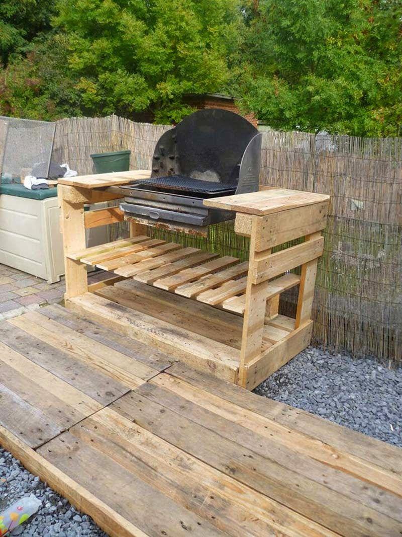 Instructions Et Des Plans Pour Construire Un Barbecue Avec ... intérieur Plan Pour Fabriquer Une Table De Jardin En Bois