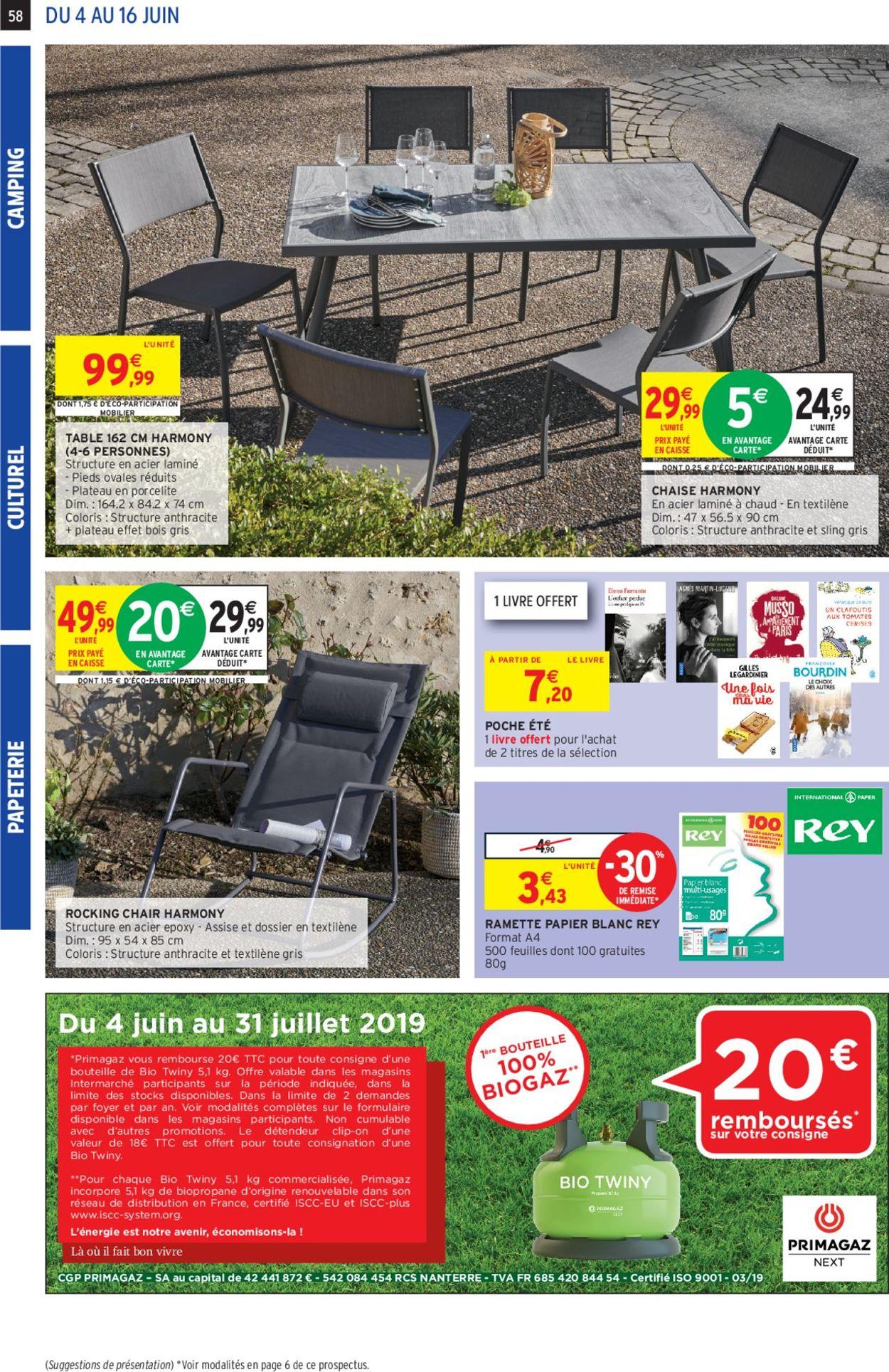 Intermarché Catalogue Actuel 04.06 - 16.06.2019 [54 ... pour Intermarché Table De Jardin