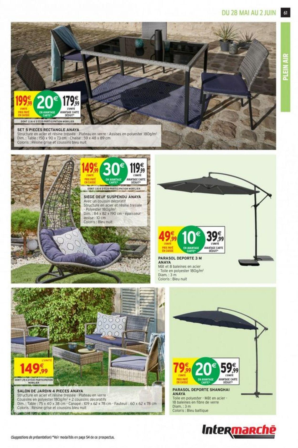 Intermarché Catalogue Actuel 28.05 - 02.06.2019 [59 ... tout Salon De Jardin Intermarché