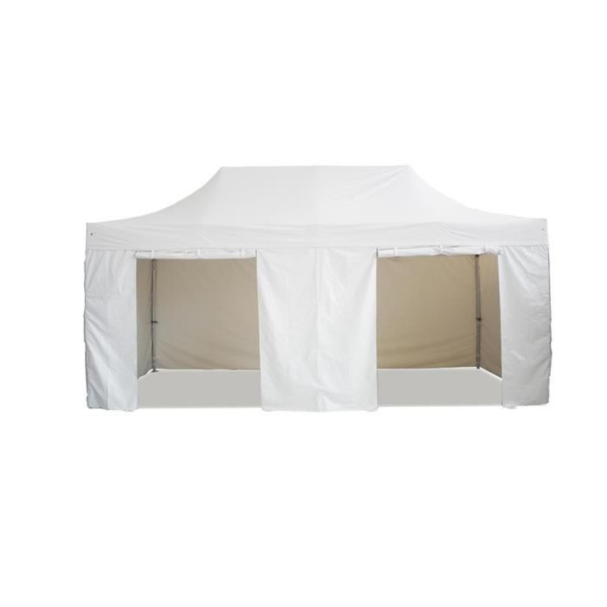 Interouge Barnum Chapiteau Tonnelle Tente Pliante Médium Acier 32Mm 3X6M  Totalement Imperméable Bleu Azur avec Tente De Jardin Pliante