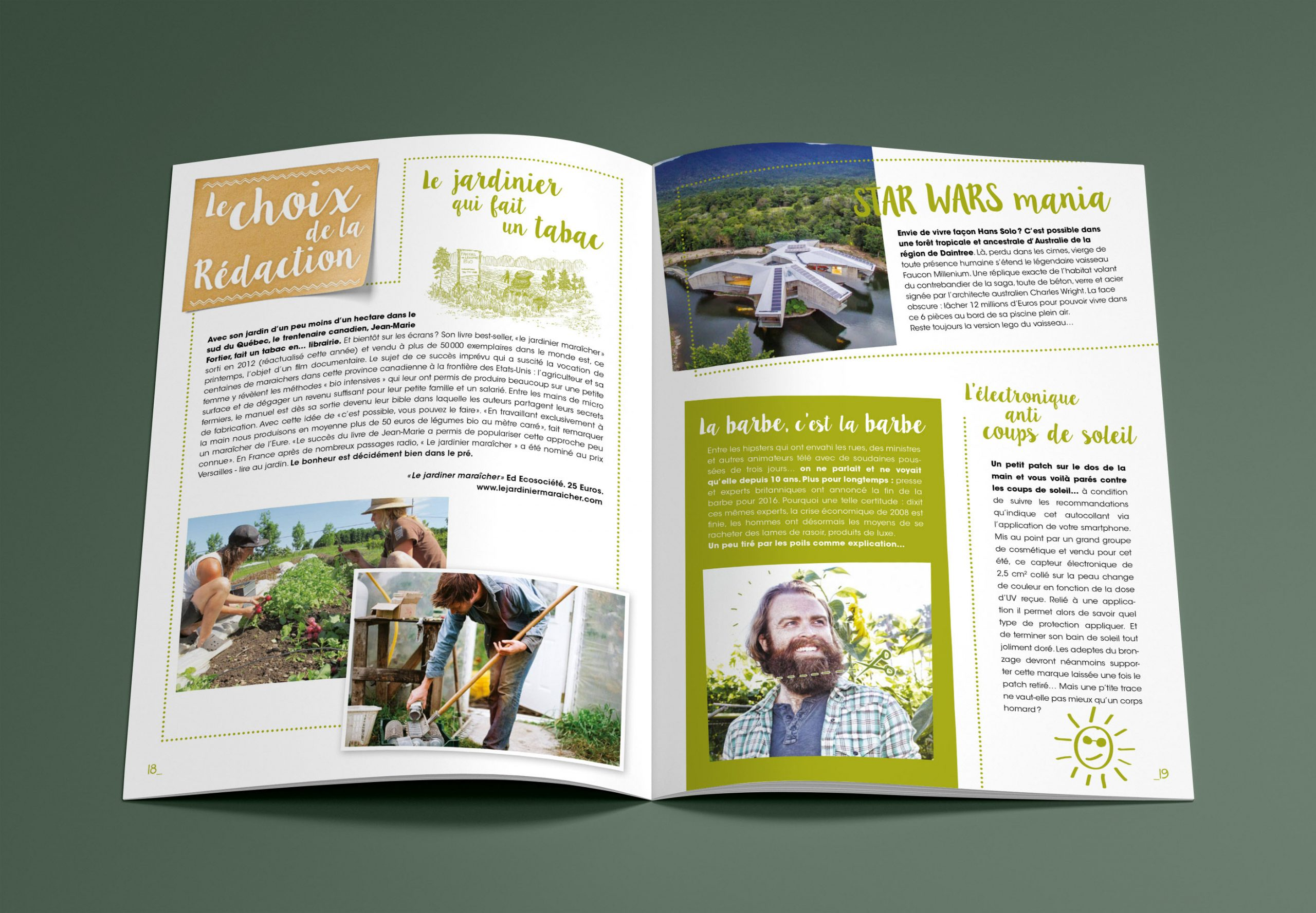 Interval On Behance à Jardiner Bio Magazine