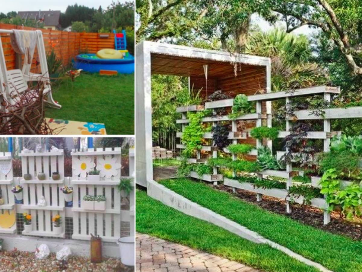 Intimité Et Discrétion : Fabriquez Un Mur Brise Vue En Palettes dedans Bordure De Jardin En Palette
