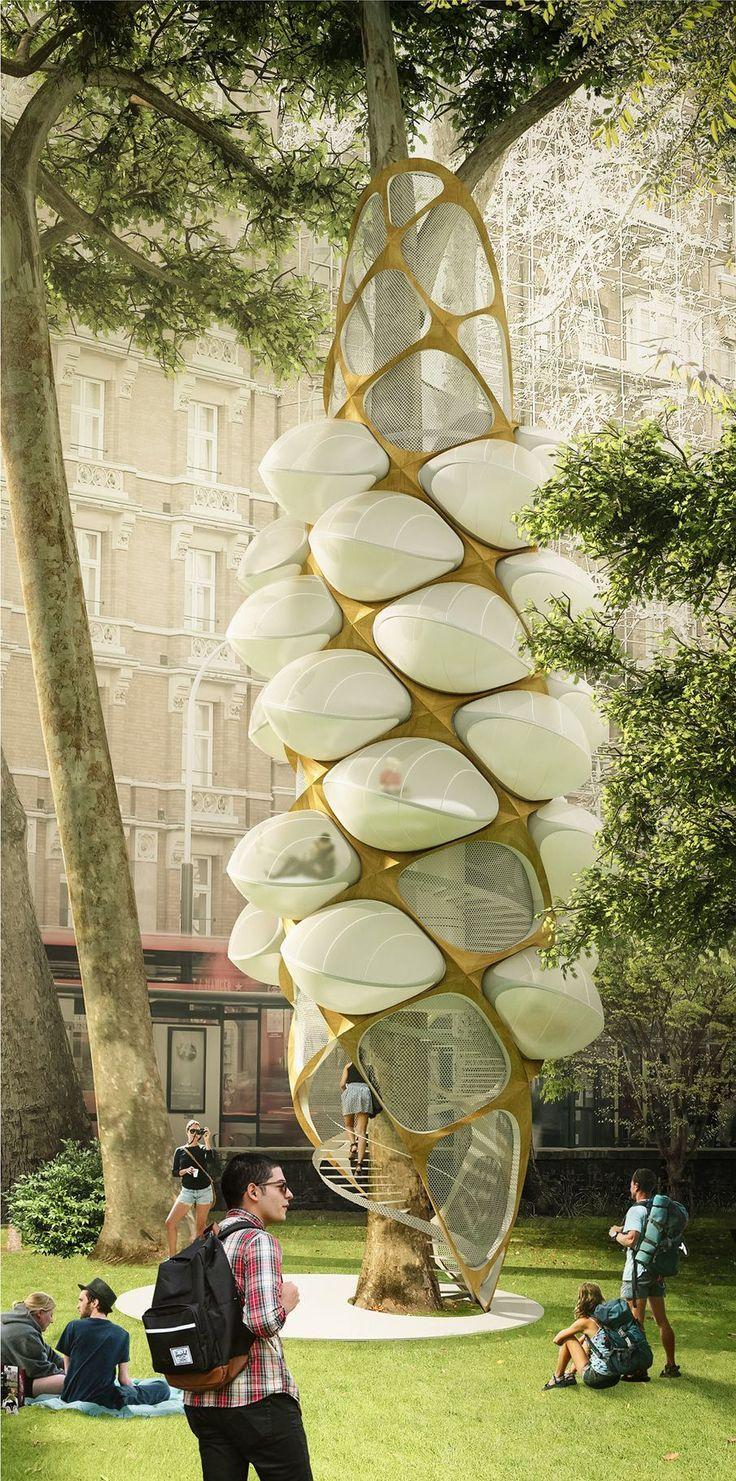 Inventé Par Des Polonais, Cet Arbre Cocon Das Paradies De La ... tout Hespérides Salon De Jardin