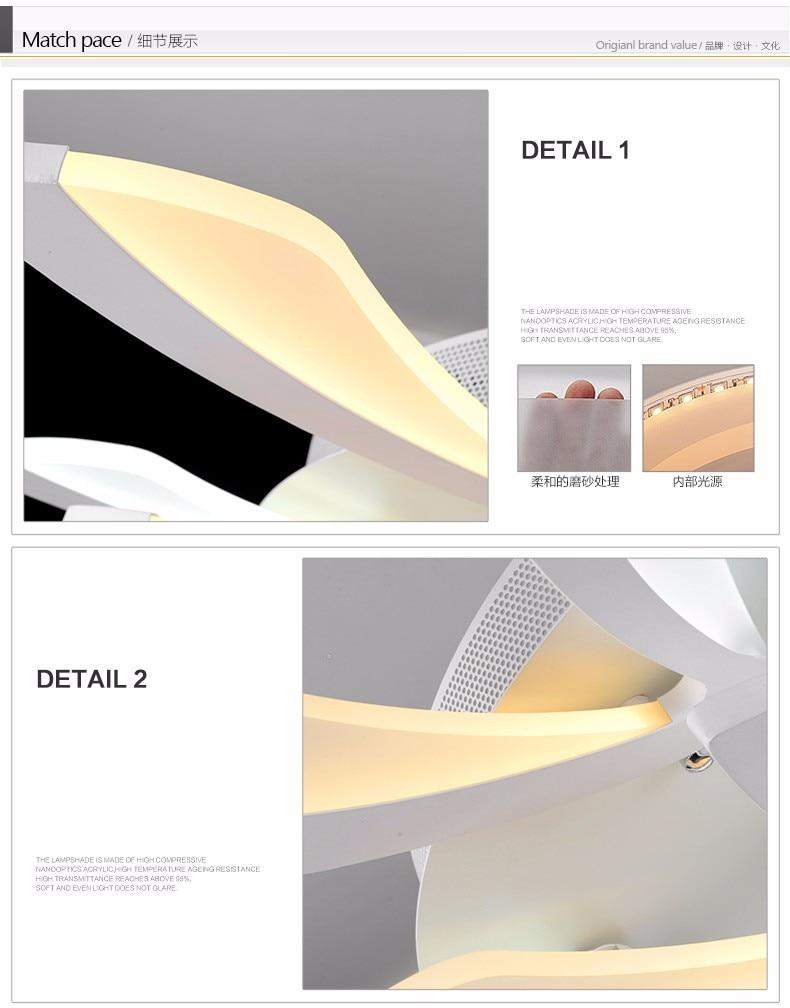 Işıklar Ve Aydınlatma'ten Tavan Işıkları'de Modern Tavan ... dedans Salon De Jardin En Promotion