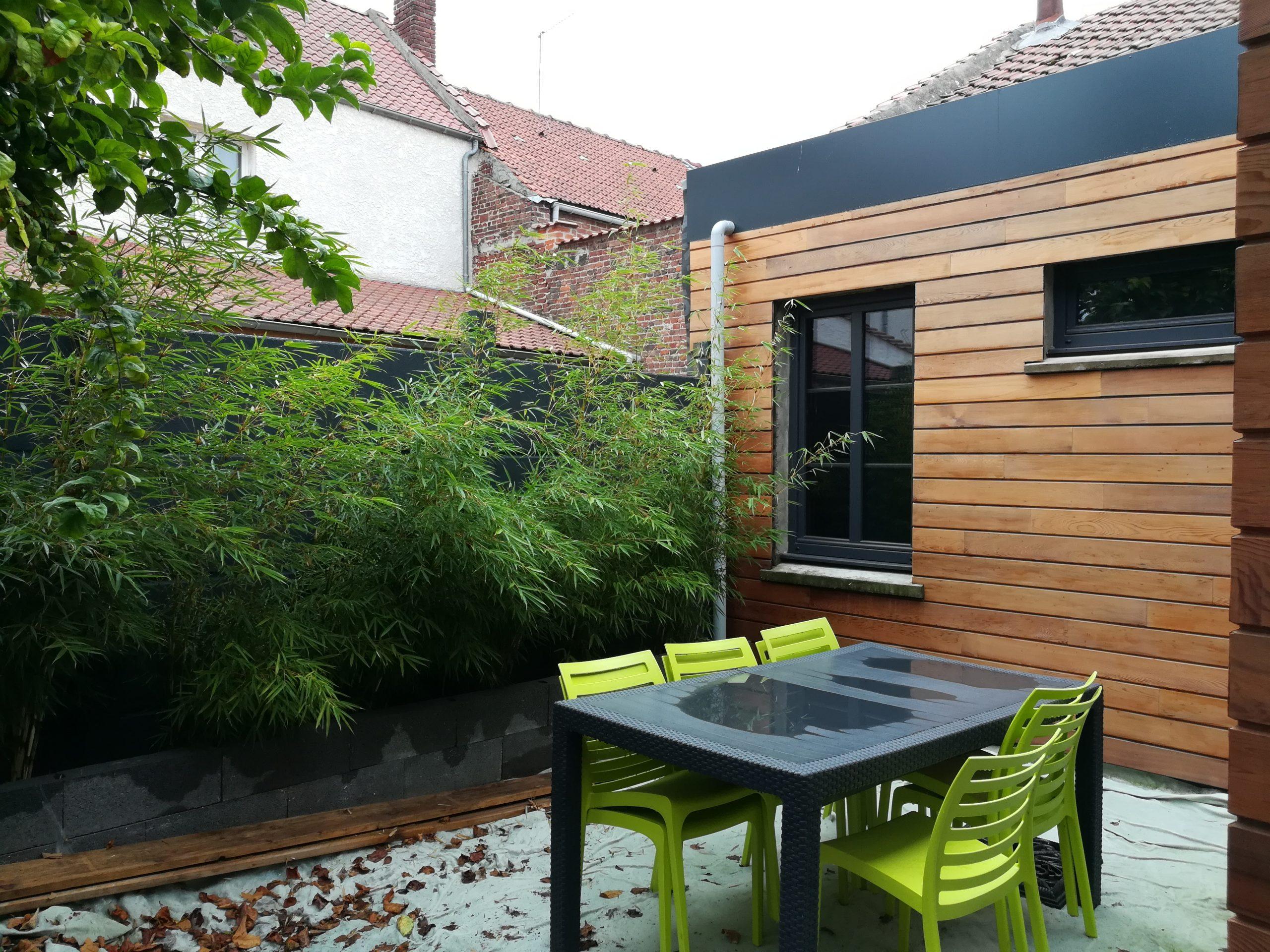 Jardin Cécilia&kevin - Lesbambous.fr Forum Des Fous De Bambous pour Cacher Vis A Vis Jardin