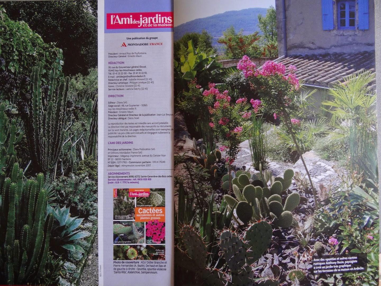 """Jardin De Bésignoles: Hors-Serie L'ami Des Jardins """" Cactées ... serapportantà Abonnement L Ami Des Jardins"""