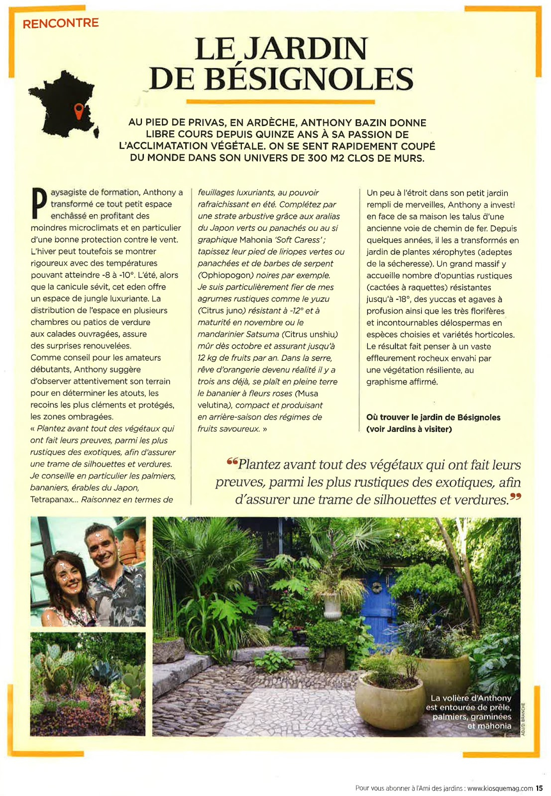 Jardin De Bésignoles: Le Jardin De Bésignoles Dans Le ... serapportantà L Ami Des Jardins Hors Série