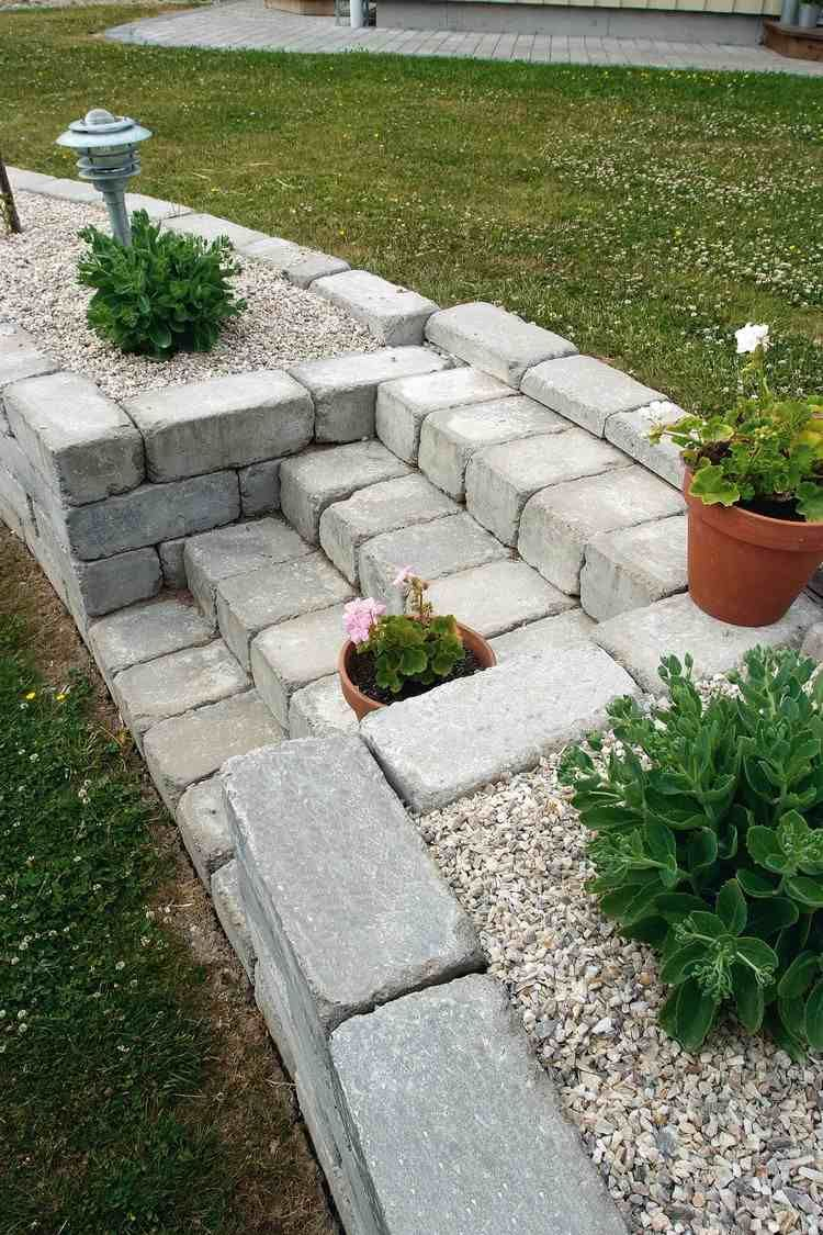 Jardin De Rocaille Et Déco En Pierre Naturelle En 40 Idées D ... serapportantà Petit Muret En Pierre Pour Jardin
