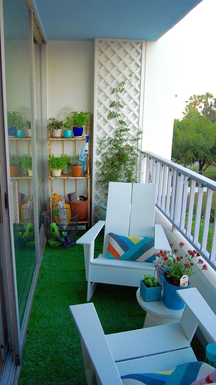 Jardin | Déco Petit Balcon, Décoration Petit Balcon Et ... avec Petit Salon De Jardin Pour Balcon