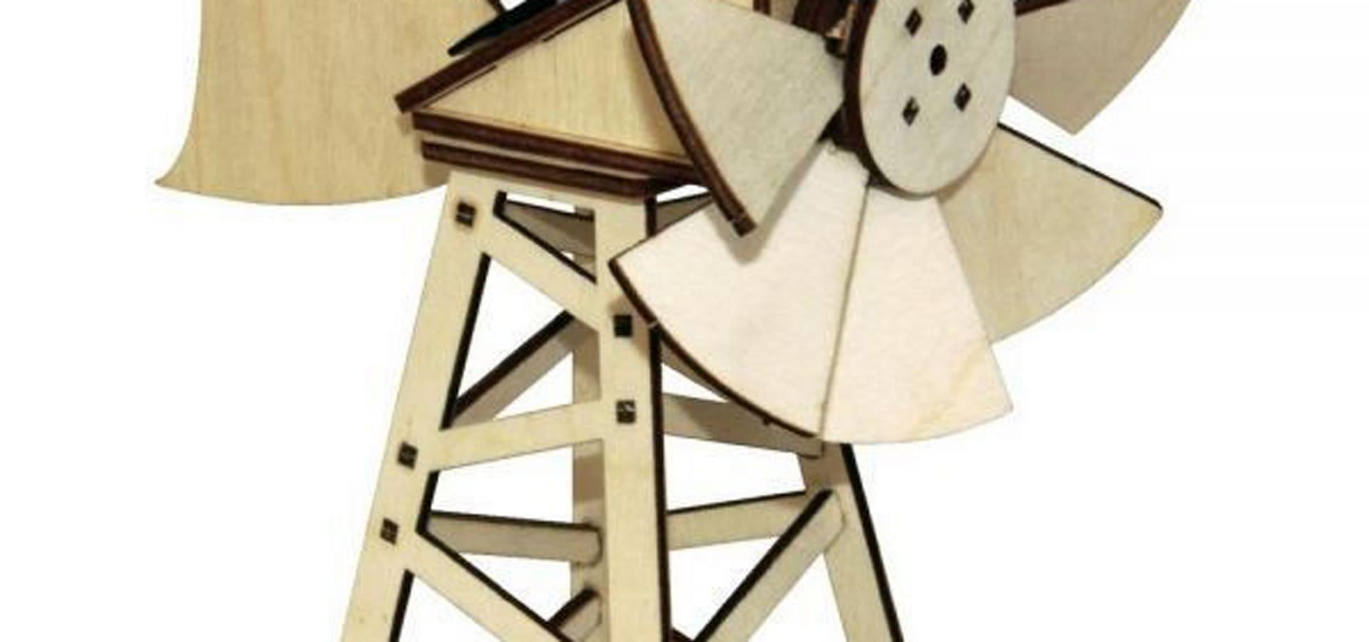 Jardin Design Deco Eco: Maquette En Bois Éolienne Solaire ... à Eolienne Jardin