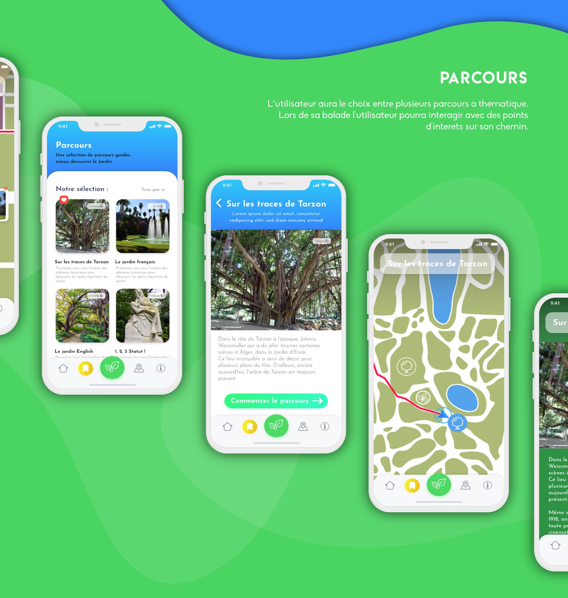 Jardin D'essai - Application Mobile Guide Touristique On Behance encequiconcerne Statut De Jardin