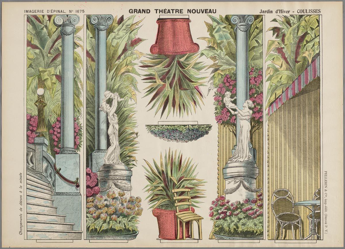 Jardin D'hiver | Paper Theatre, Paper Dolls concernant Salin De Jardin