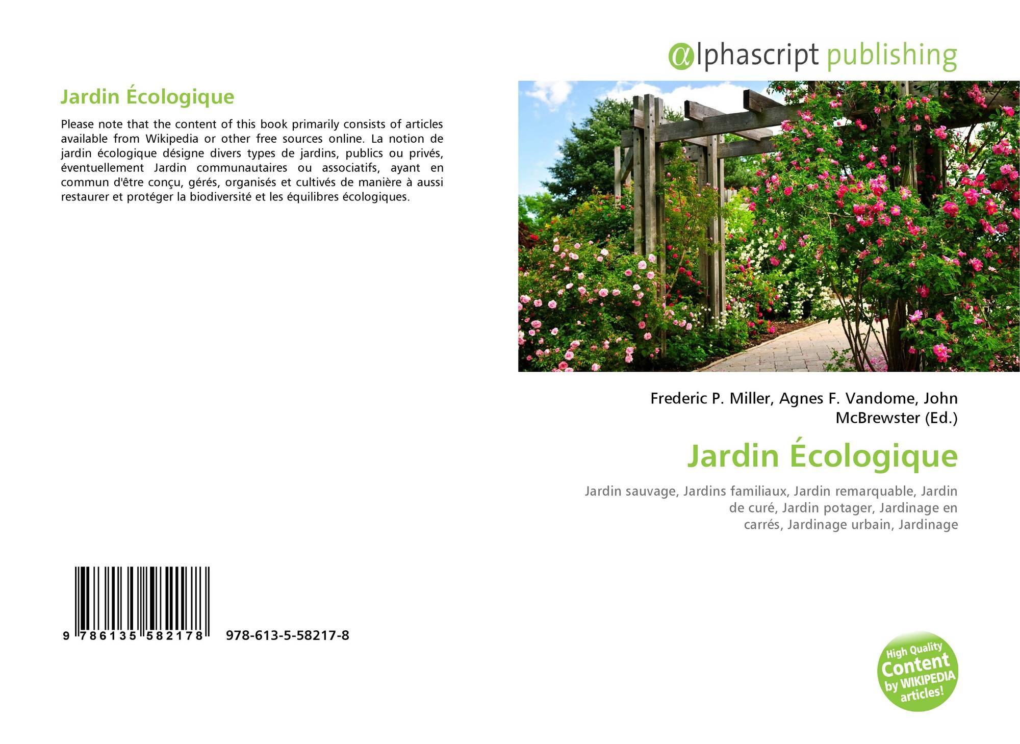 Jardin Écologique, 978-613-5-58217-8, 6135582178 ,9786135582178 serapportantà Jardins Écologiques