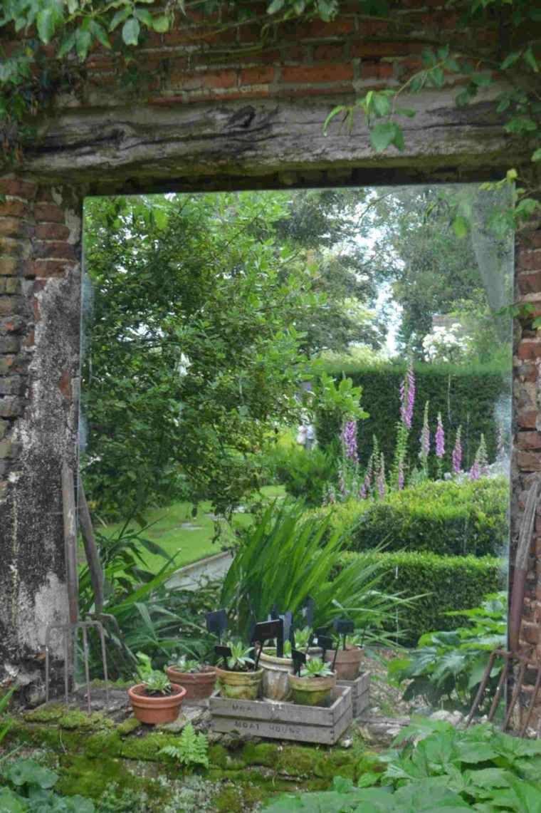 Jardin Extérieur Et Miroir Acrylique | Garden Mirrors ... avec Trompe L Oeil Exterieur Jardin