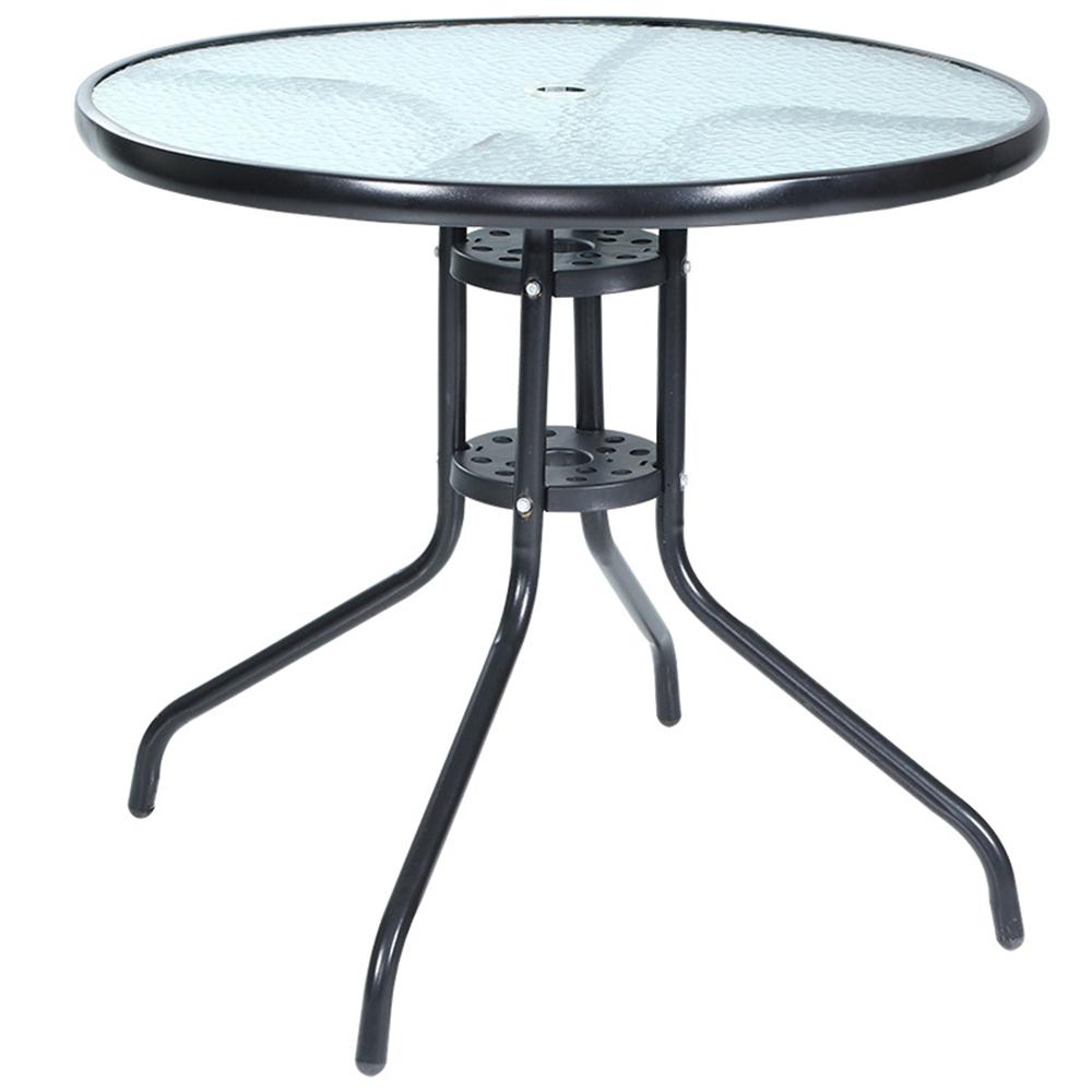 Jardin Glass Outdoor Dining Table avec Table De Jardin En Metal