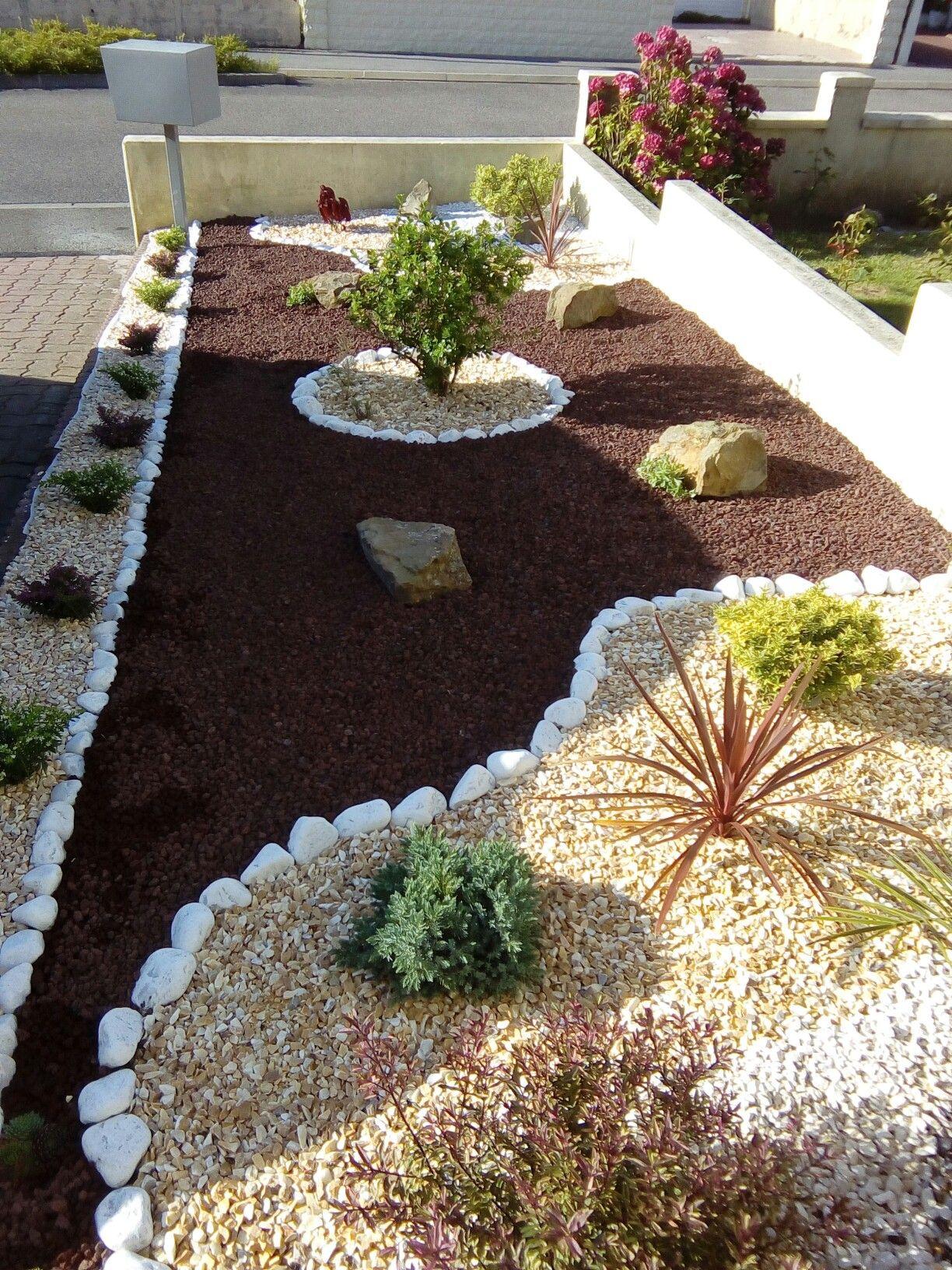 Jardin Gravier | Aménagement Jardin Cailloux serapportantà Amenagement Jardin Avec Pierres