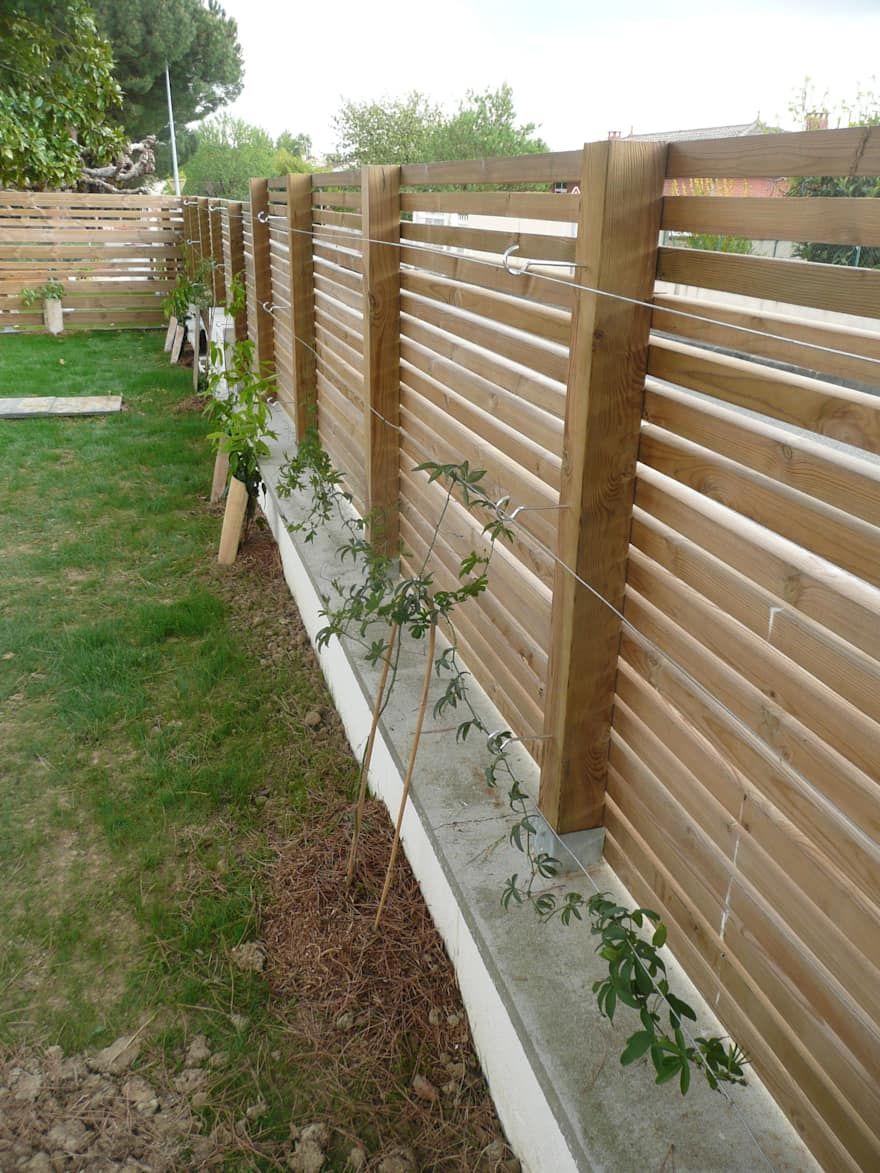 Jardin: Images, Idées Et Décoration   Arka Bahçe Peyzaj ... pour Barrière Bois Jardin