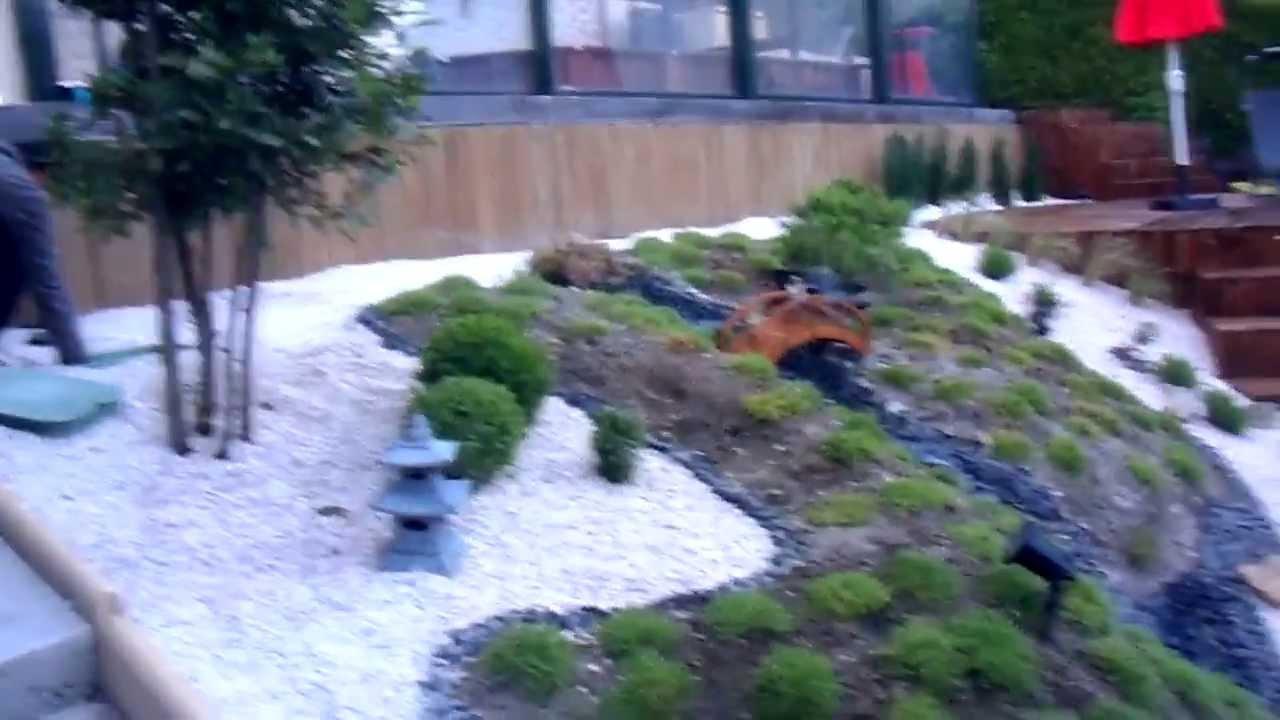 Jardin Japonais En Pente serapportantà Modele De Jardin Japonais