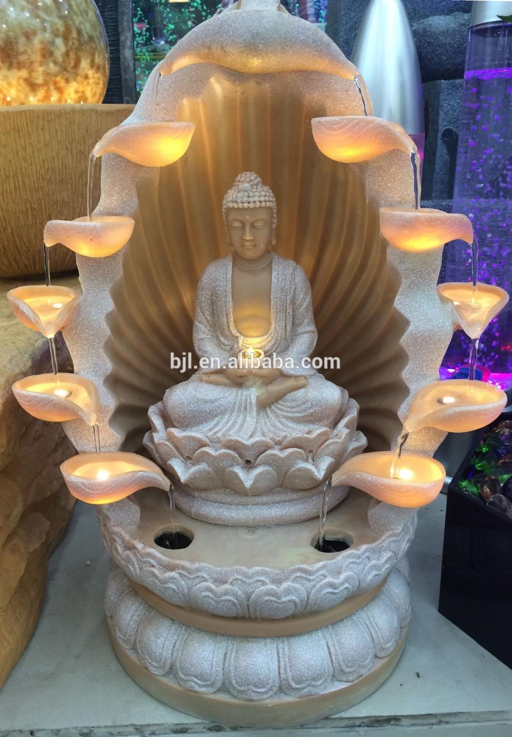 Jardin Led Lumière Fontaine D'eau Résine Indien Bouddha Statue - Buy Statue  Indienne En Résine,statue En Résine De Bouddha,statue De Bouddha Lumière ... dedans Fontaine De Jardin Bouddha