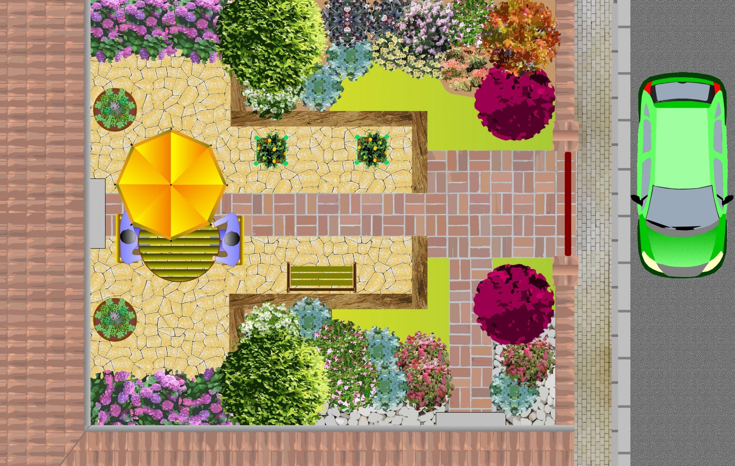 Jardin Paysager Exemple Conception - Idees Conception Jardin intérieur Modèle De Jardin Fleuri
