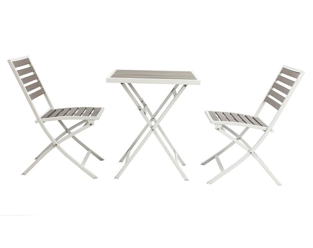 Jardin Pliable Table De Salon Blanc Chaises Et 2 Et Avec Cdshtqr pour Salon De Jardin Pliant