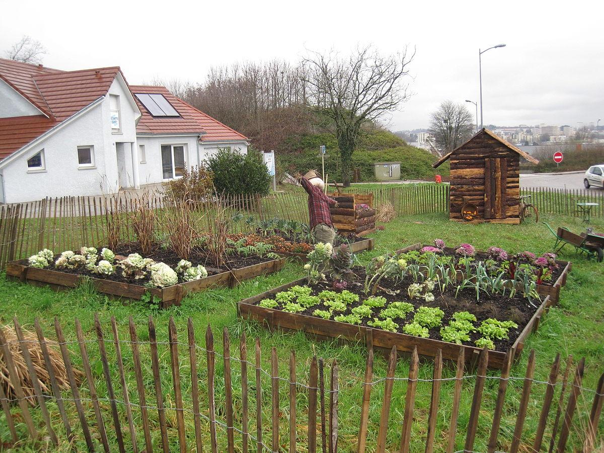 Jardin Potager — Wikipédia avec Exemple D Aménagement De Jardin