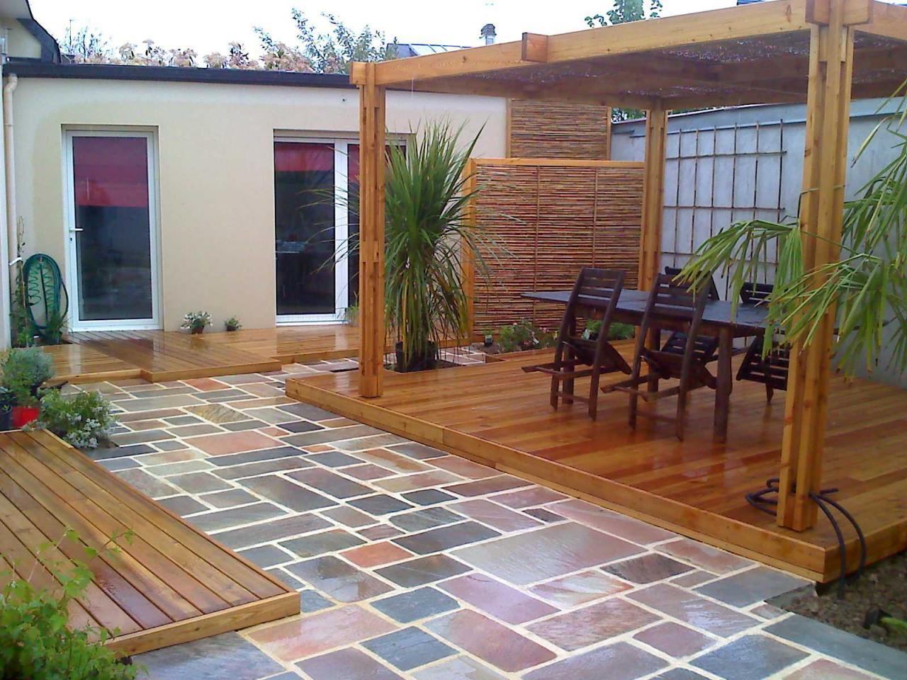 Jardin Sur Terrasse Idee Jardin De Terrasse - Idees ... encequiconcerne Terrase De Jardin