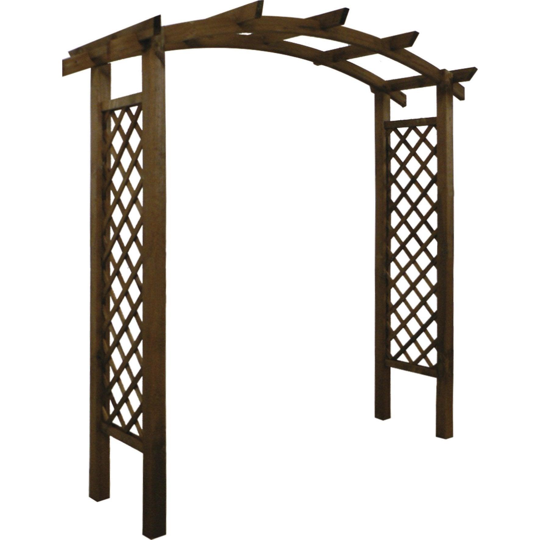 Jardin Tonnelles Arche En Treillis En Bois Pour Jardin ... pour Arceau De Jardin