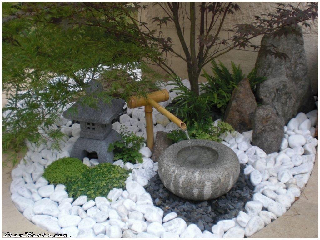 Jardin Zen | Petit Jardin Japonais, Jardin Japonais ... encequiconcerne Petite Fontaine De Jardin Pas Cher