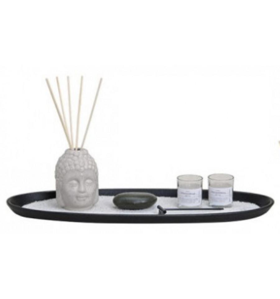 Jardin Zen Xl - Bouddha Diffuseur De Parfum & Bougies - Coffret Cadeau serapportantà Jardin Zen Belgique